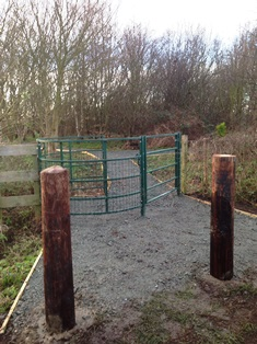 photo of Nature Reserve path after clearance work