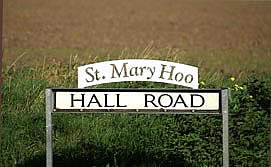 photograph of St Mary Hoo sign